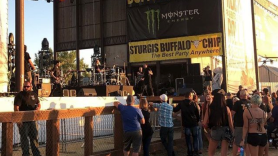 Trapt Sturgis play to a massive crowd at the Sturgis Buffalo Chip