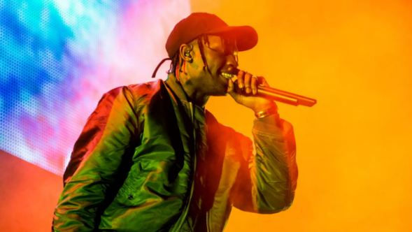 Travis Scott The Plan stream Tenet soundtrack new song music, photo by Philip Cosores