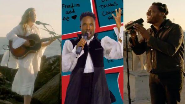 billy porter steven stills leon bridges maggie rogers 2020 democratic national convention performance video watch