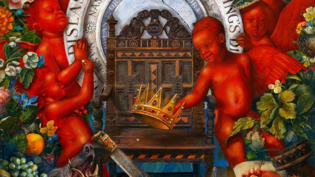 Nas - King's Disease album cover artwork ultra black