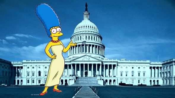 A Brief History of Marge Simpson Versus Washington