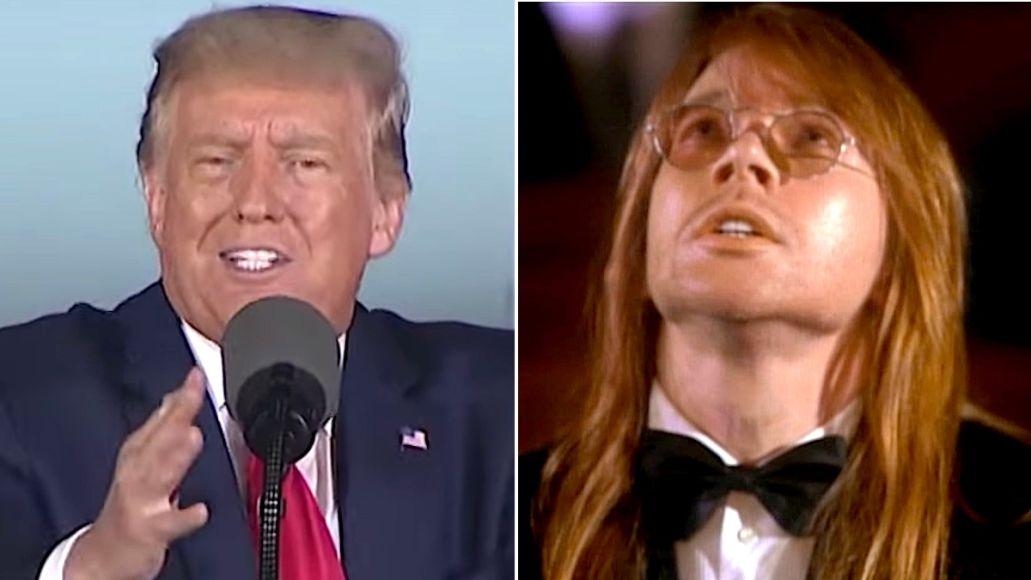 President Trump loves Guns N Roses November Rain