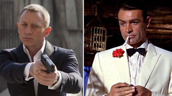Daniel Craig and Sean Connery