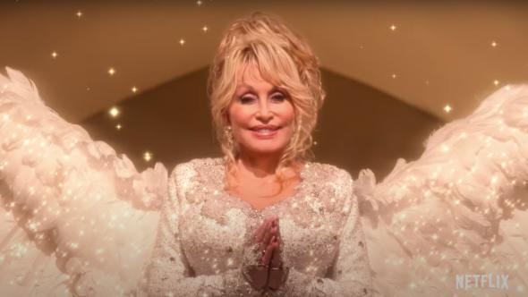 Dolly Parton's Christmas on The Square (Netflix) first trailer christine baranski