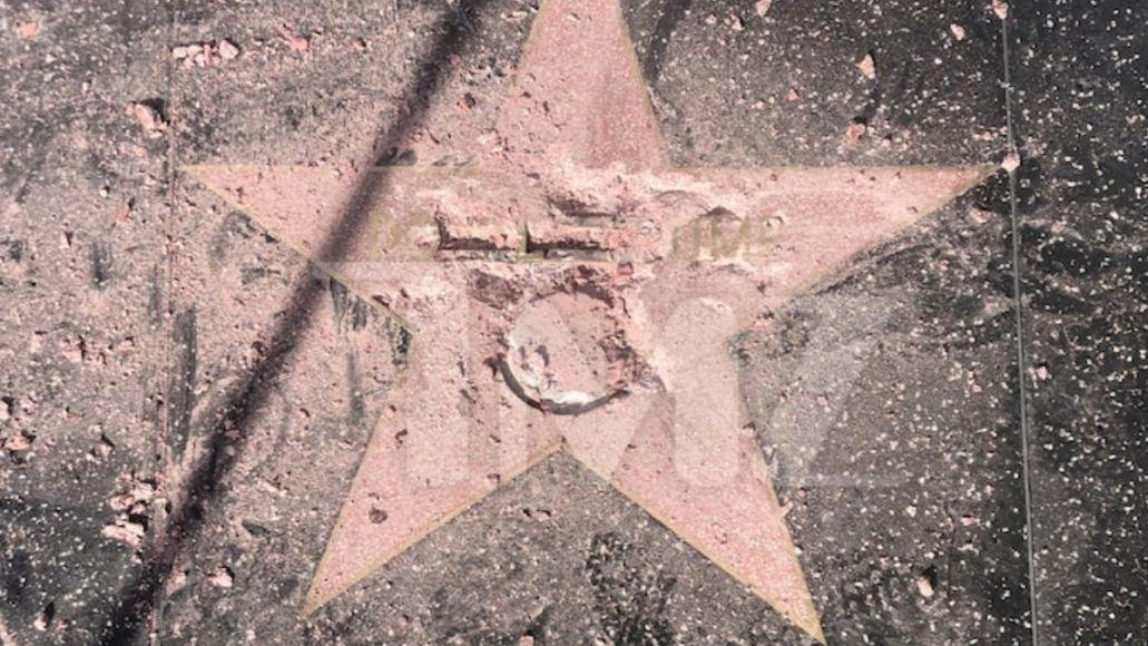 Donald Trump's Hollywood Walk of Fame Star hollywood star hulk damaged, photo courtesy of TMZ