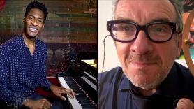 Elvis Costello jon Batiste late show stephen colbert hey clockface how can you face me watch