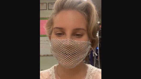 Lana Del Rey mesh mask