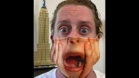 Macaulay Culkin wearing a Home Alone face mask is the best PSA scream mask
