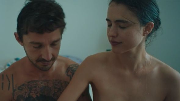Shia LaBeouf and Margaret Qualley nude music video