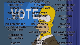 The Simpsons Lists 50 Reasons To Vote Trump Out
