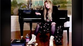 Stevie Nicks TikTok challenge Dreams roller skates video, photo via TikTok
