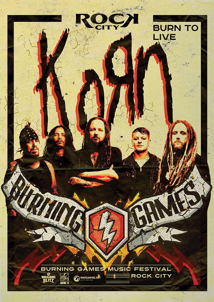 WOTB - Burning Games Korn Poster