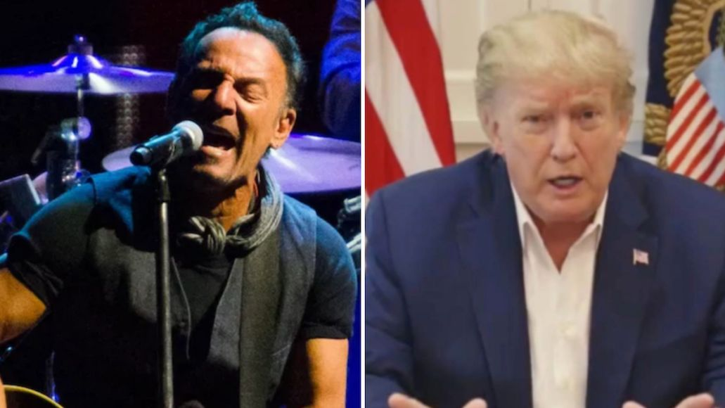 bruce springsteen born in the usa donald trump covid-19 walter reed medical center