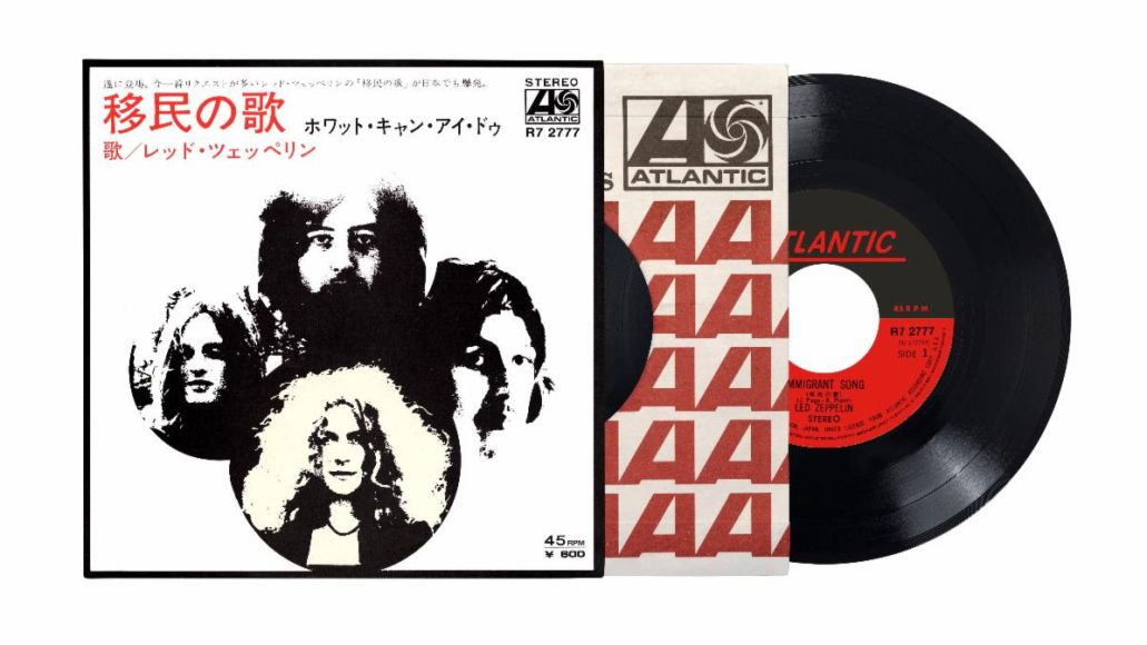 led zeppelin immigrant song japanese 7 inch vinyl single reissue artwork