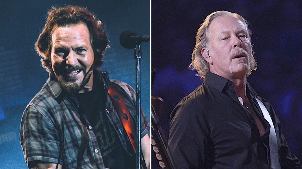 Eddie Vedder James Hetfield Joe Walsh VetsAid
