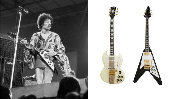 Jimi Hendrix and Gibson Guitars