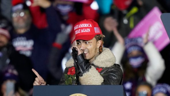 Lil Pump didn't vote political Donald Trump registered registration voter election politics, photo by AP