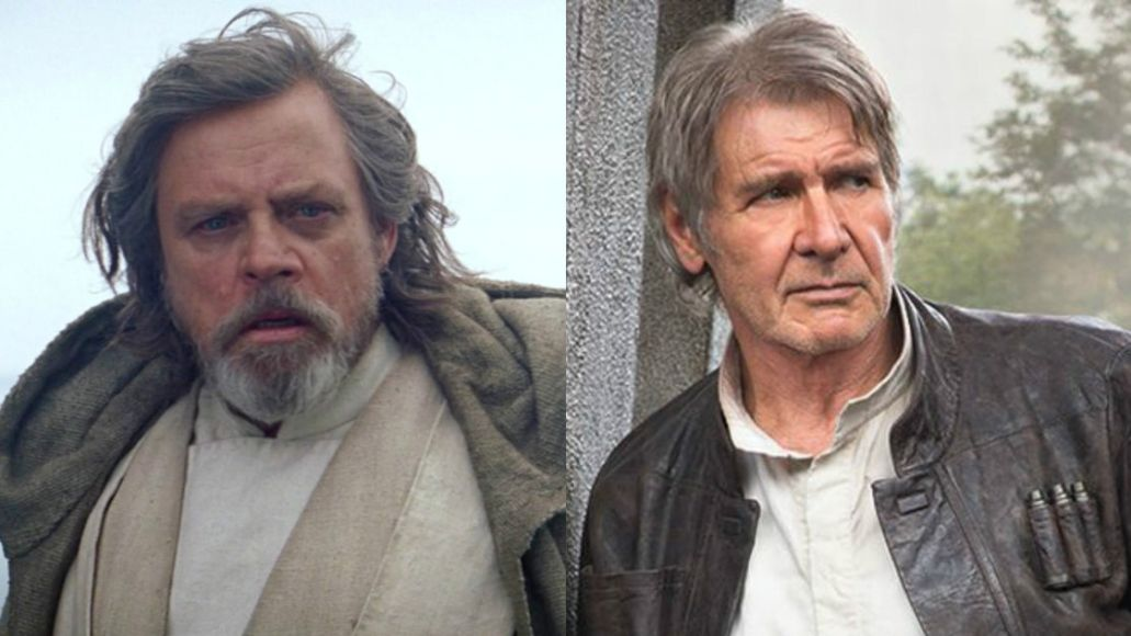 Mark Hamill and Harrison Ford in Star Wars