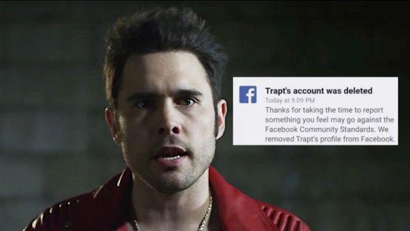 Trapt Facebook deletion