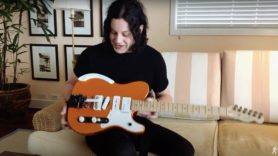 jack white customized guitar the raconteurs three wheel motion low ride telecaster