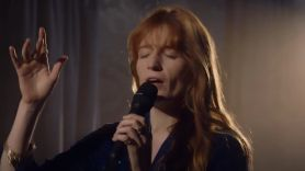 Florence Welch Have Yourself a Merry Little Christmas cover song stream, photo via YouTube
