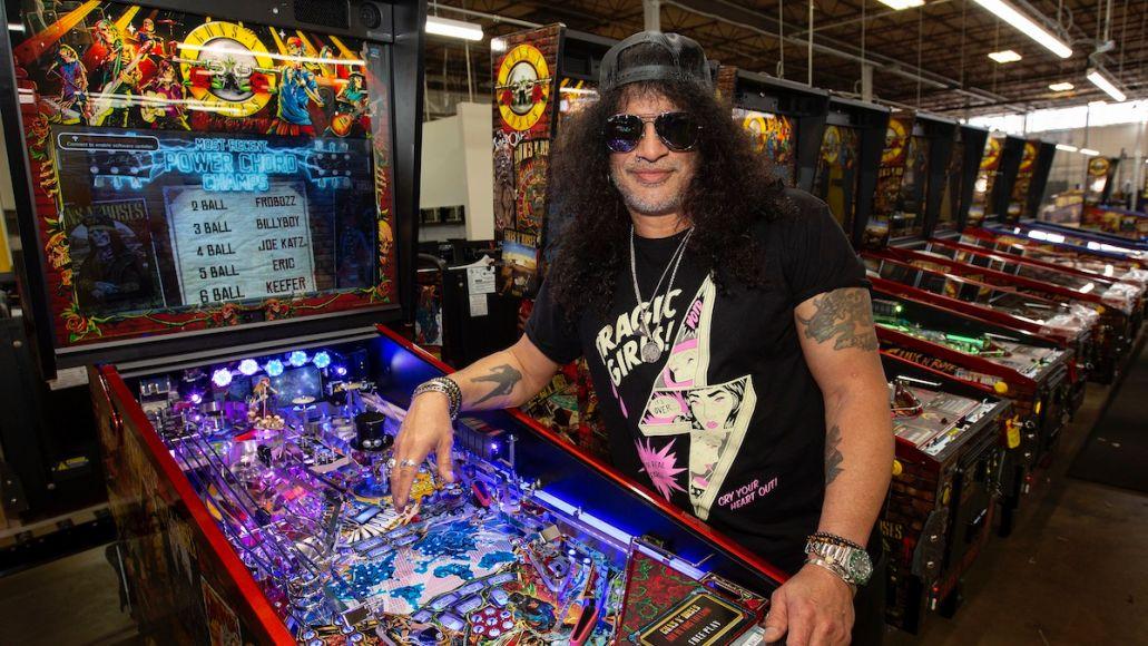 Slash Talks GNR Pinball Machines
