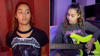 Zaria Shreds Metallica on TikTok