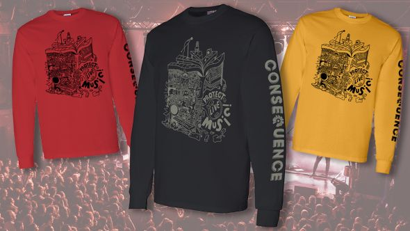 protect live music t-shirt header