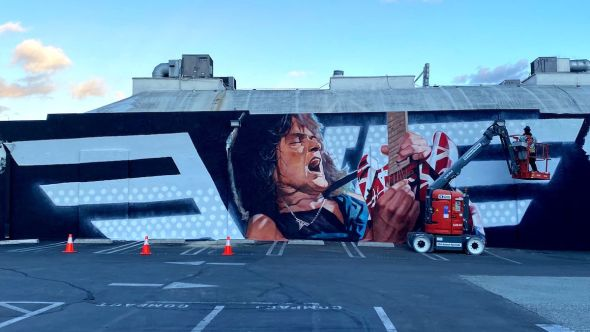 Eddie Van Halen mural