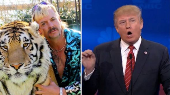 Joe Exotic pardon Donald Trump president limo