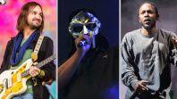 Joe Biden inauguration playlist Kamala Harris Spotify stream music Tame Impala (photo by Philip Cosores), MF DOOM (photo via Getty), and Kendrick Lamar (photo by Philip Cosores)