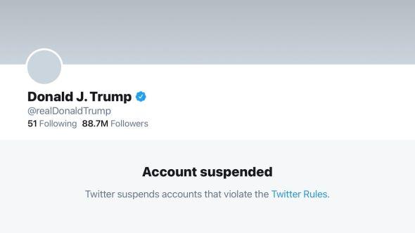 Trump Twitter account suspended