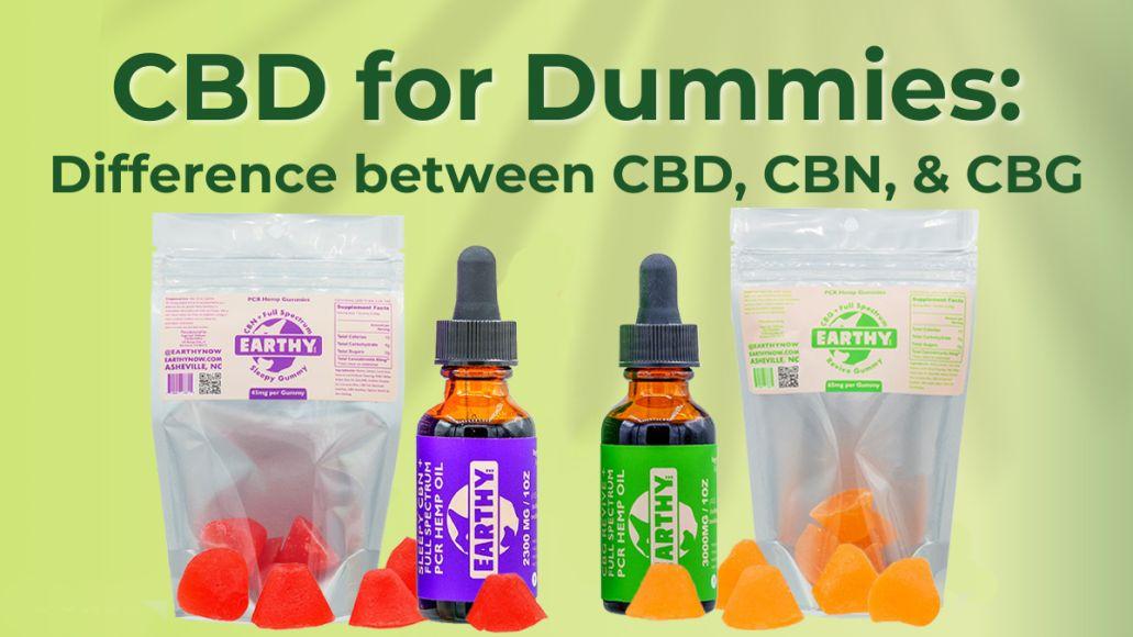 cbd for dummies cbg cbn difference