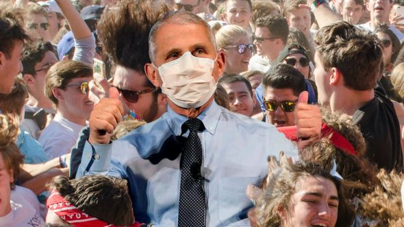 Dr. Fauci in the pit