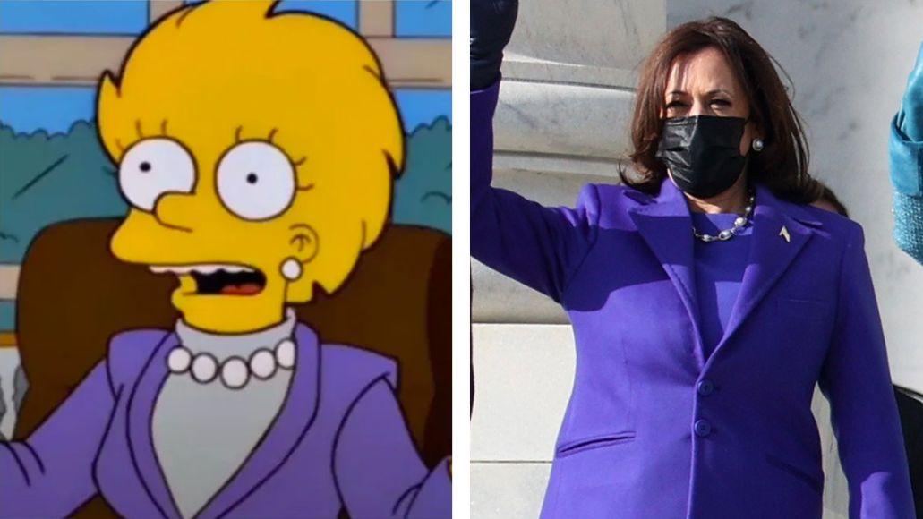 simpons lisa kamala harris vice president inauguration clothing fit outfit clothes
