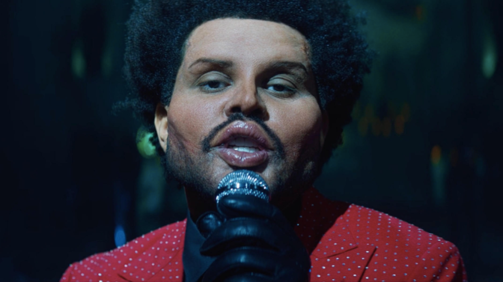 the weeknd save your tears video new music watch stream plastic surgery