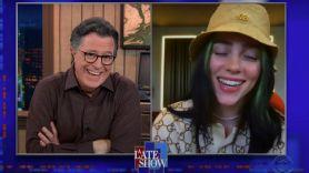 Billie Eilish on Colbert
