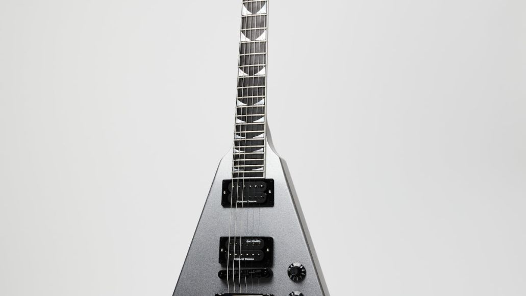 Gibson Dave Mustaine Flying V EXP Metallic Silver