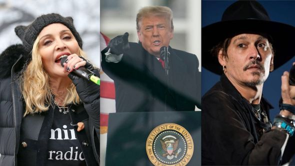 Trump lawyers Madonna Johnny Depp video impeachment trial quote