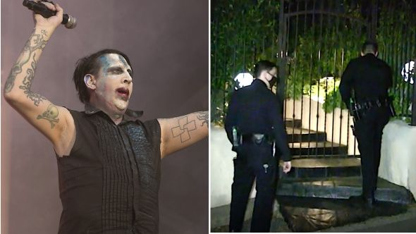 Police visit Marilyn Manson's home