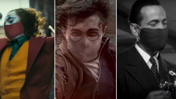 Movie characters in masks