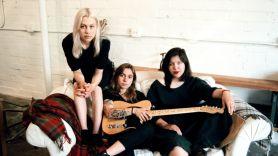 Phoebe Bridgers, Julien Baker, and Lucy Dacus, photo by Lera Pentelute