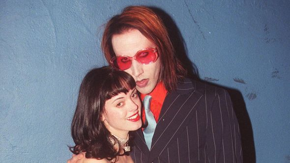 Rose McGowan and Marilyn Manson