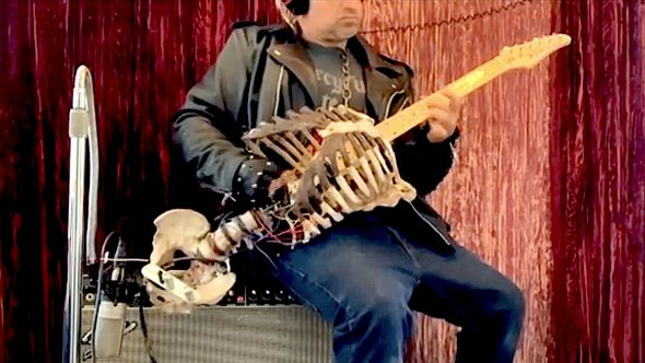 Guy Builds Guitar from Uncle's Skeleton
