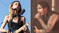Wolf Alice Marilyn Manson assault harassment singer Ellie Rowsell Wolf Alice (photo by Philip Cosores) and Marilyn Manson (photo by Raymond Ahner)