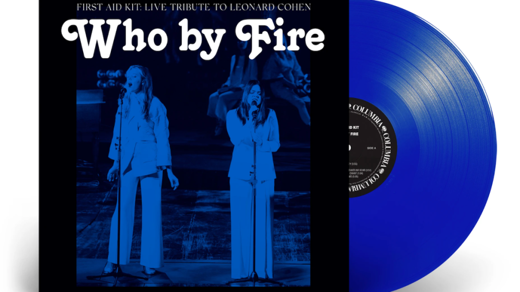 first aid kit leonard cohen who by fire tribute album cover artwork blue vinyl
