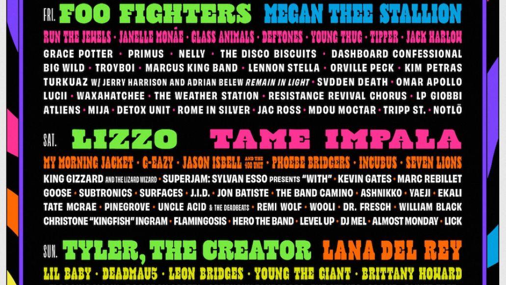 Bonnaroo 2021 lineup poster