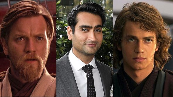Ewan McGregor (Disney), Kumail Nanjiani, and Hayden Christensen (Disney) Obi-Wan Kenobi cast series Disney show actors