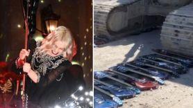 Phoebe Bridgers guitar smash