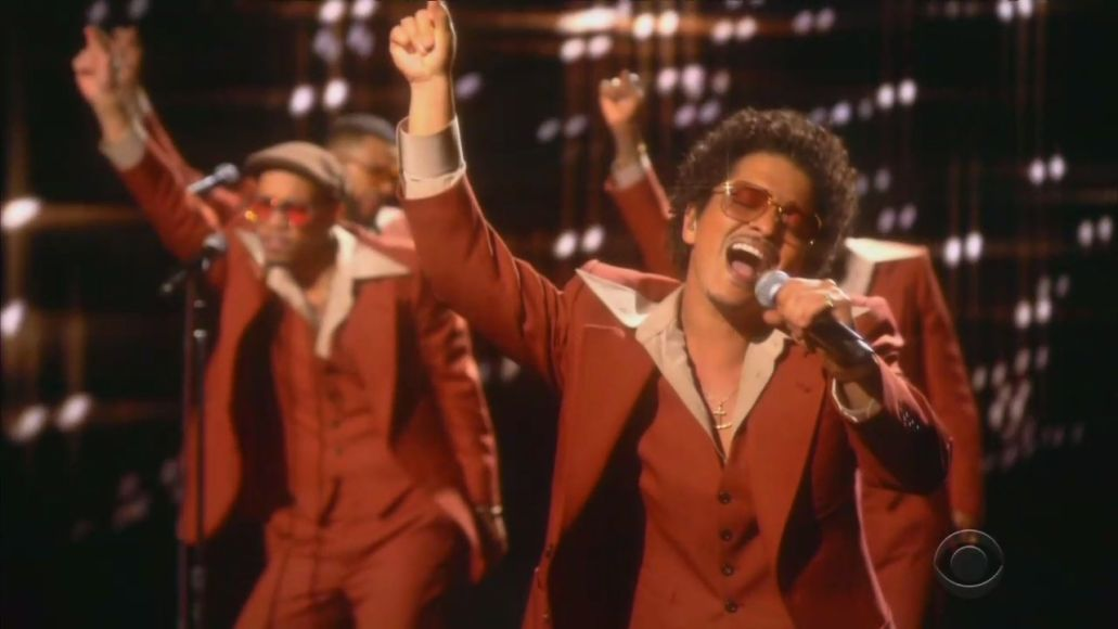 Silk Sonic perform at the 2021 Grammys